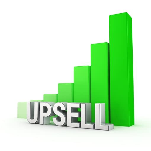 One click upsell set up