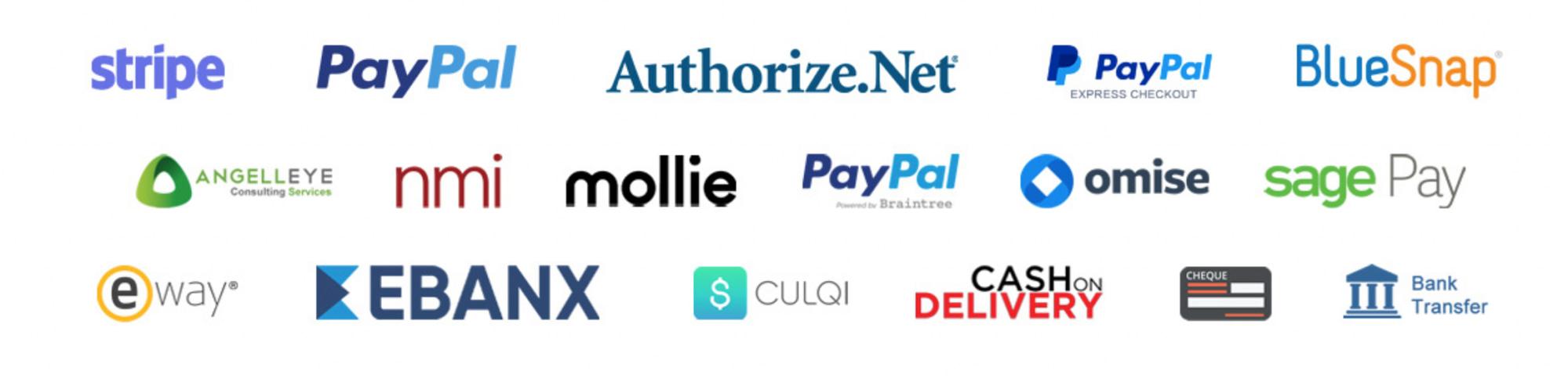WooCurve Payment Gateways