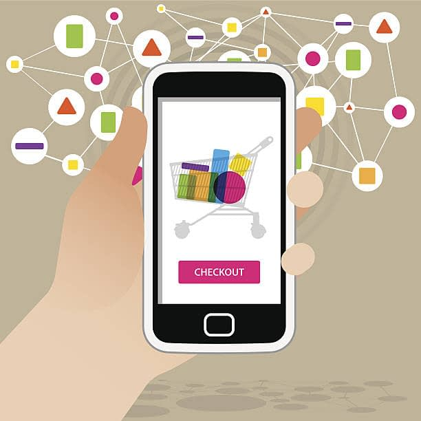 mobile shopping cart page